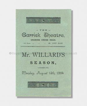 1894 Garrick Theatre, The Professor's Love Story