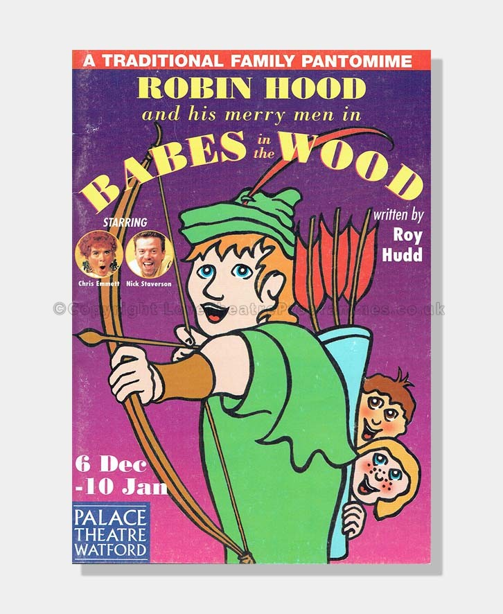 1998 Watford Palace Theatre Robin Hood SIGNED