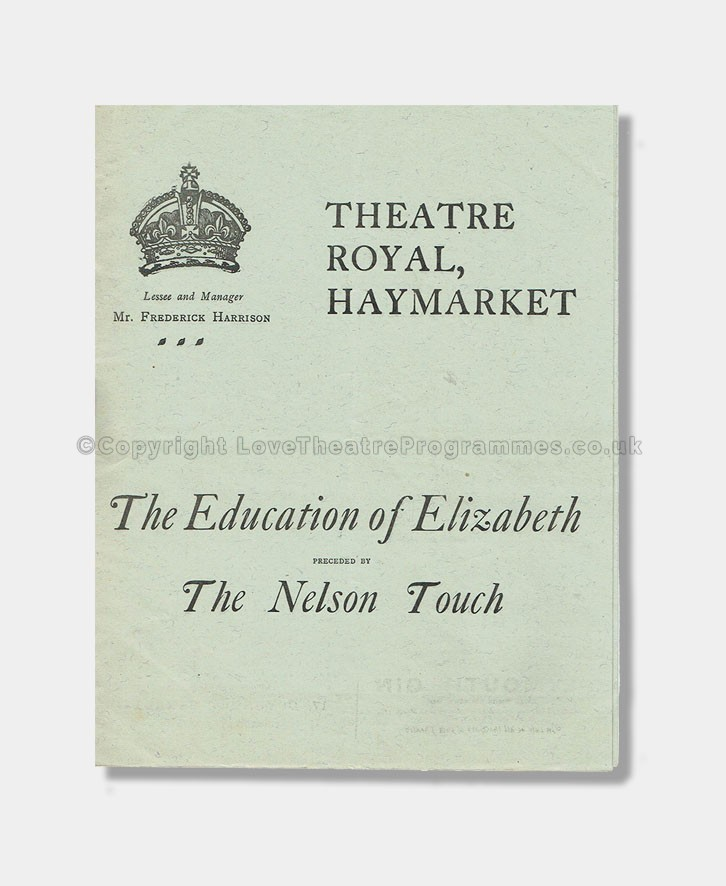 1907 Theatre Royal Haymarket - Education of Elizabeth