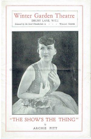1929 Gracie Fields and Archie Pitt