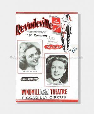 1950 REVUDEVILLE Windmill Theatre
