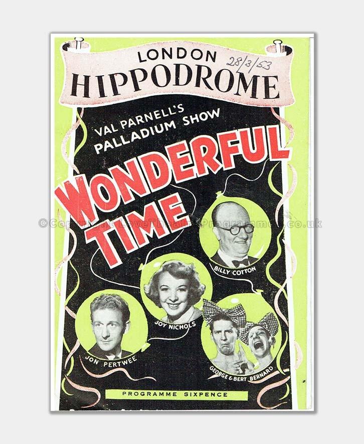1953 hippodrome - wonderful time