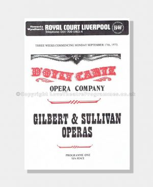 1973 Royal Court Liverpool, D'Oyly Carte