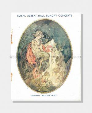1933 YEHUDI MENUHIN Royal Albert Hall