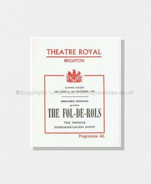 1959 FOL DE ROLS Theatre Royal Brighton
