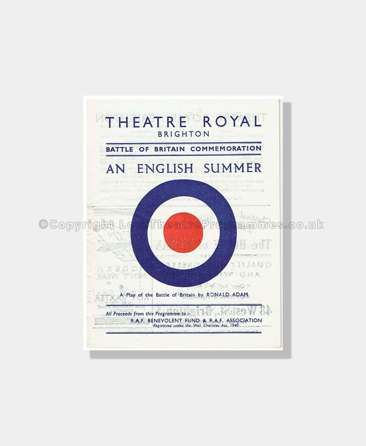 1948 AN ENGLISH SUMMER Theatre Royal Brighton