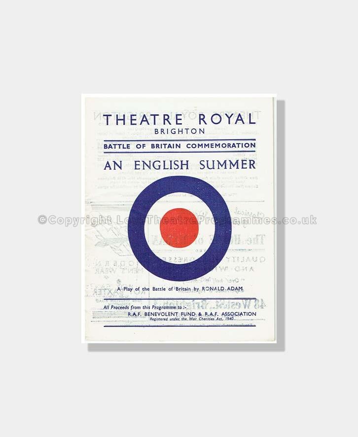 1948 AN ENGLISH SUMMER Theatre Royal Brighton