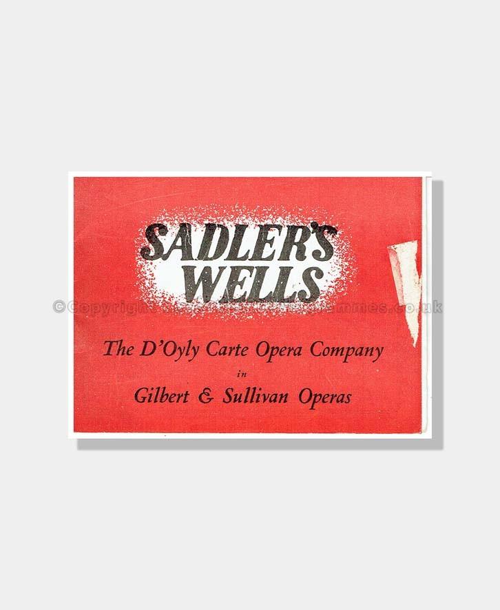 1948 IOLANTHE Sadler's Wells D'OYLY CARTE