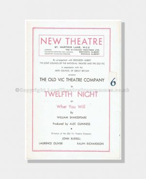 1948 TWELFTH NIGHT New Theatre 1680171940