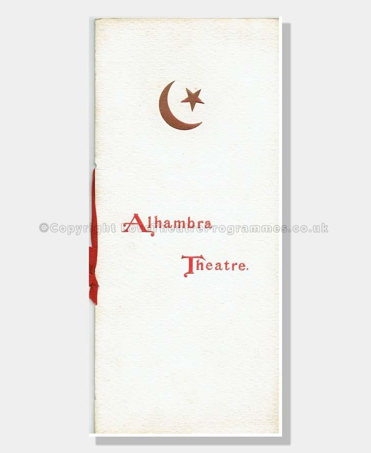 1899 ALHAMBRA THEATRE Variety