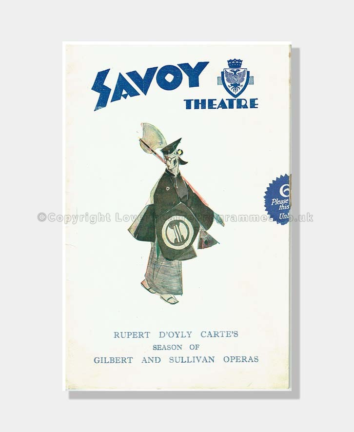 1932 PATIENCE Savoy Theatre