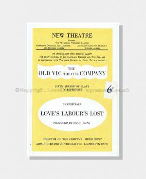 1949 LOVE'S LABOUR'S LOST New Theatre