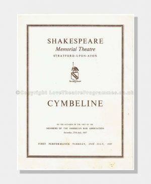 1957 CYMBELINE Shakespeare Memorial