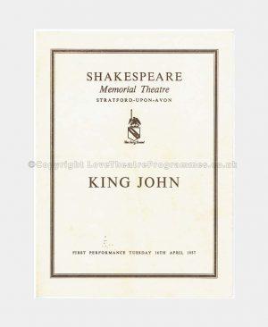 1957 KING JOHN Shakespeare Memorial Theatre
