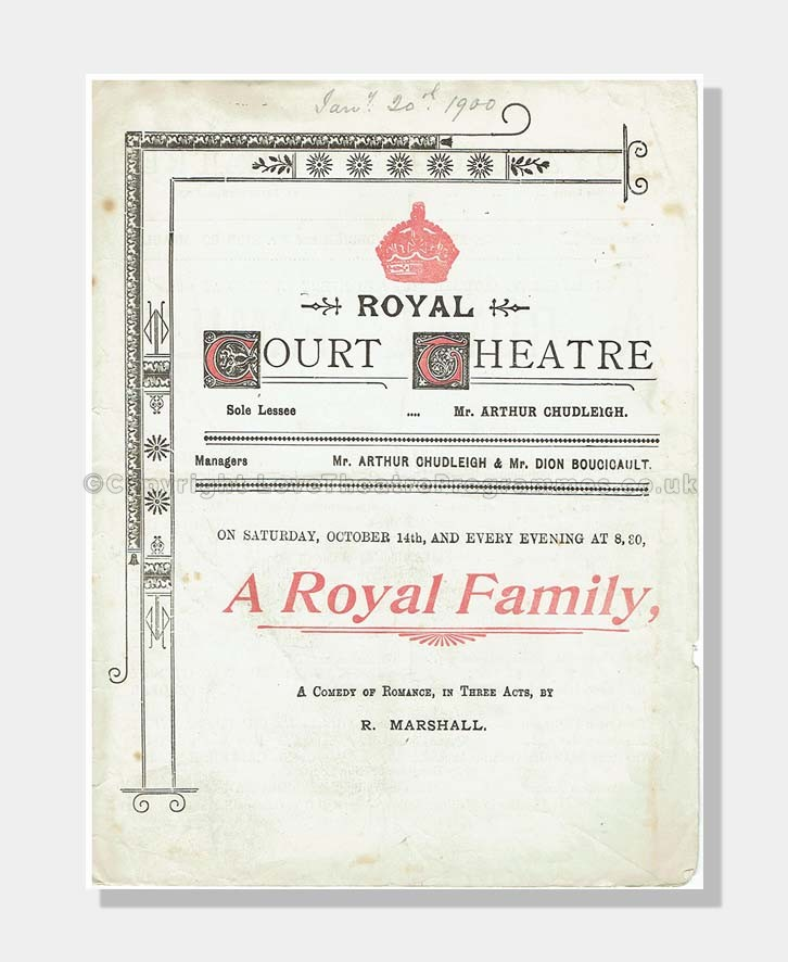 1900 Royal Court Theatre - A Royal Family