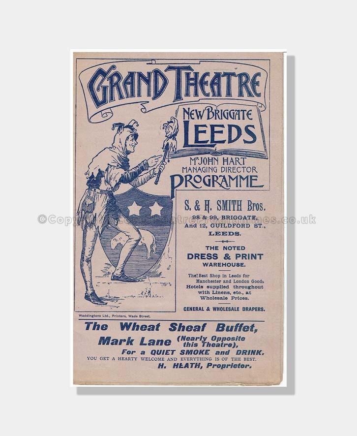 1897 MADAME SANS-GENE Grand Theatre, Leeds