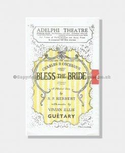 1947 BLESS THE BRIDE Adelphi Theatre