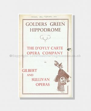 1950 D'OYLY CARTE PATIENCE Golder's Green Hippodrome