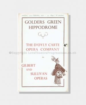 1950 THE MIKADO Golders Green Hippodrome
