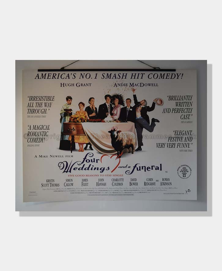 1994 FOUR WEDDINGS and a FUNERAL FILM POSTER