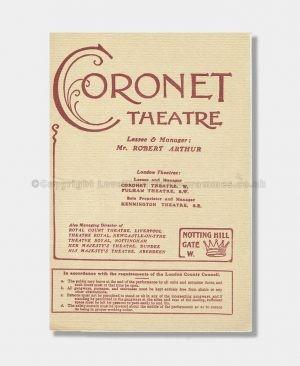 1909 WIDOWERS' HOUSES Coronet Theatre