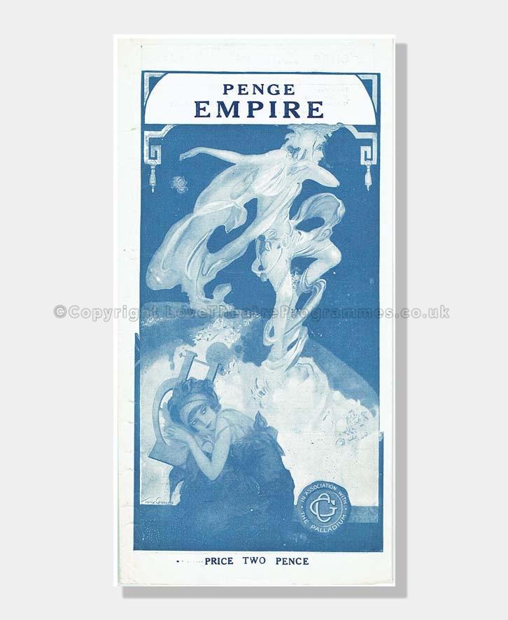 1924-25 THE STREET SINGER Penge Empire