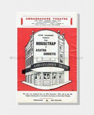 1967 THE MOUSETRAP Ambassadors Theatre