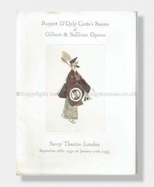 1932 HENRY LYTTON FAREWELL SOUVENIR Savoy Theatre