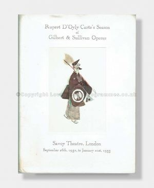 1932-33 HENRY LYTTON FAREWELL SOUVENIR Savoy Theatre D'Oyly Carte