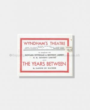 1945 THE YEARS BETWEEN Wyndham's Theatre Daphne Du Maurier