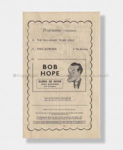 1953 Bob Hope London Palladium