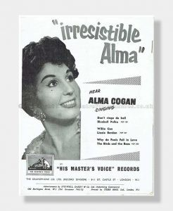 1956 ALMA COGAN London Palladium