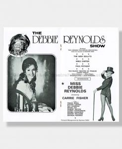 1974 DEBBIE REYNOLDS CARRIE FISHER London Palladium