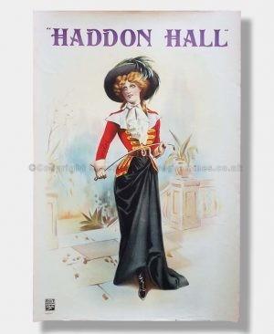1920s D'Oyly Carte Poster HADDON HALL
