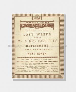 1885 KATHARINE & PETRUCHIO Theatre Royal Haymarket