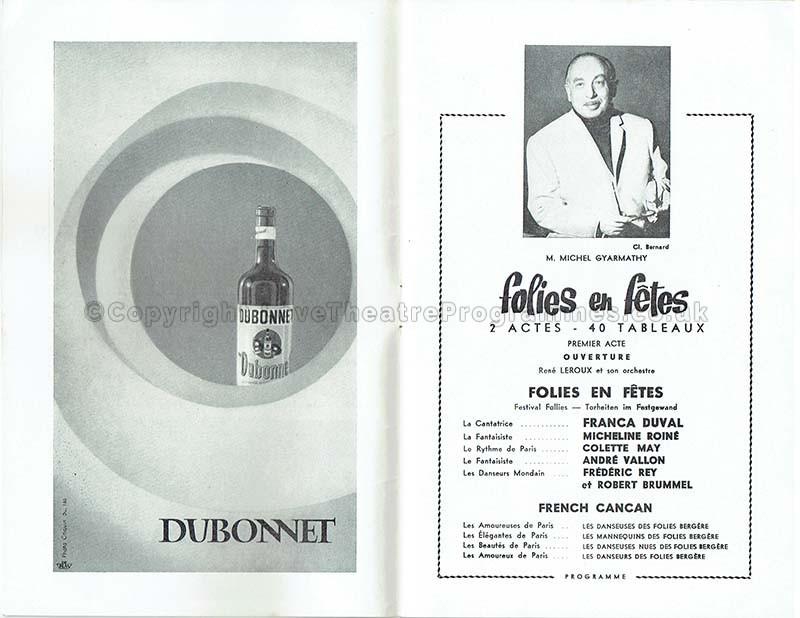 1964 FOLIES EN FETES Folies Bergère
