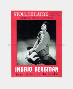 1954 - Stoll Theatre - Joan of Arc