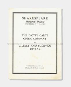 1957 - Shakespear Memorial Theatre -  D'Oyly Carte