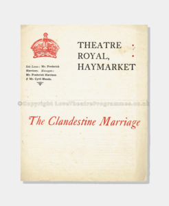 1903 THE CLANDESTINE MARRIAGE 92161900 (1 cropp) frame