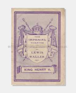 1905 Imperial King Henry V (1 crop) 7121900 frame