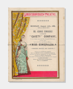 1881 Londesborough Theatre, Scarborough 121880 Miss Esmeralda frame