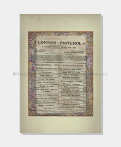 1885 - London Pavillion - SILK frame