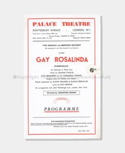 Theatre Programmes, Love theatre programmes, Gay Rosalinda