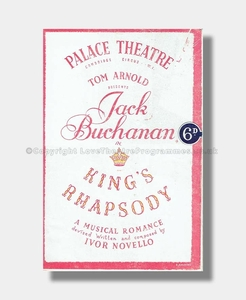 1946 KINGS RHAPSODY Ivor Novello PALACE THEATRE