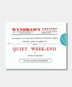 1941 QUIET WEEK-END Wyndham's Theatre