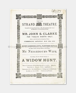 1883 - Royal Strand Theatre - A Widow Hunt