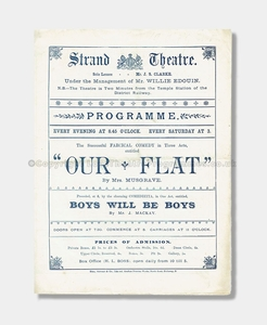 1890 - Strand Theatre - Our Flat