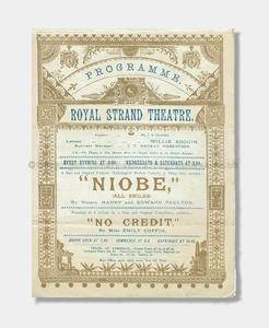 1892 - Royal Strand Theatre - Niobe