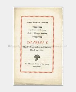 1891 - Royal Lyceum - Charles I