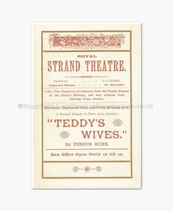 1896 TEDDY'S WIVES Royal Strand